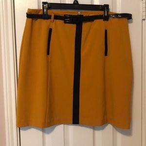 Worthington Gold with Black Stripe Skirt